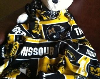 Missouri Tigers College Block Fleece Football Sports Baby Blanket 30X36
