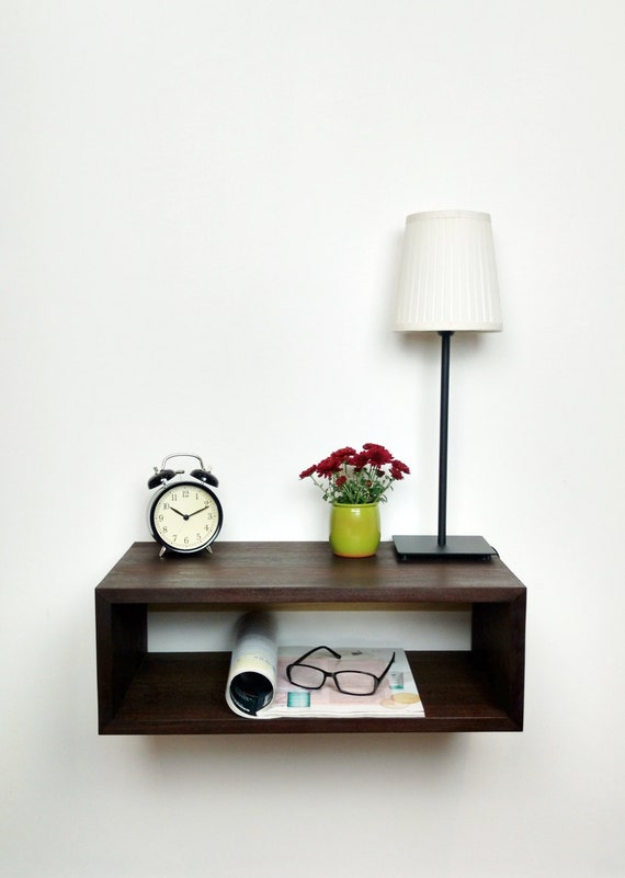 Nightstand Table: Floating Nightstand / Modern Bedside Table / Mid Century Night