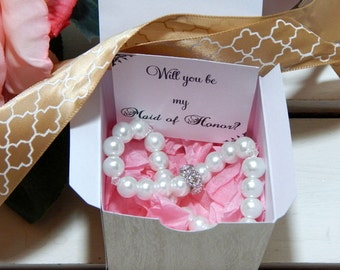 Will You Be My Maid Of Honor, Matron Of Honor, Be My Maid of Honor, Maid Of Honor Gift, Wedding Party, Bridal Party, Maid Of Honor Proposal
