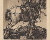 RESERVED FOR A - The Dragon Slayed - Antique 1910s St. George on Horseback Postcard