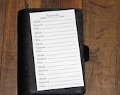 PRINTED – Personal Size Planner Inserts - Password Keeper - 10 inserts (printed front & back)