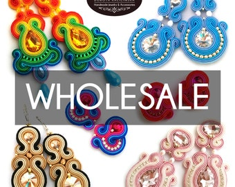 Wholesale jewelry - wholesale earrings - wholesale for boutiques - bulk jewelry - bulk order jewelry - boutique wholesale soutache earrings