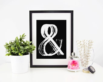 Ampersand Print, Typography Print, 8.5x11 Print, Home Decor, Wall Art, Art Print