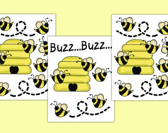BUMBLE BEE DECAL Nursery Wall Art Girl Honey Hive Stickers Room Decor Baby Shower Gift Decorations