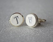 Personalized Cuff Links - Unique Father of the Bride Gift or Groomsmen Gift - Initals in Silver or Gold - Gift Boxed and Ready to Give