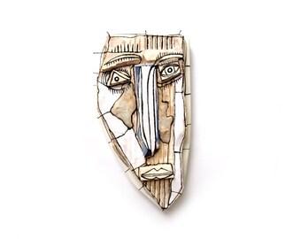 Creepy face, Ceramic face, Crazy art, 3D sculpture, Wall mask, Ceramic mask, Modern ceramic, Abstarct ceramic, Crazy face, Wall sculpture