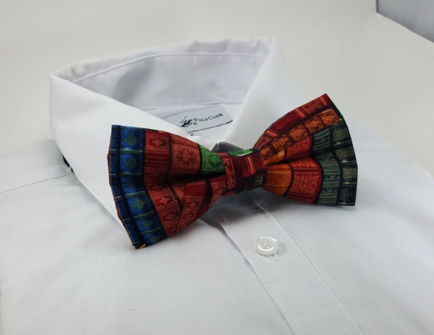 book bowtie book lover bowtie nerdy fashion bow tie