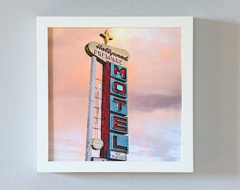 Hollywood Photography, Iconic Hollywood Skyline Print, Pastel Home Decor, fits Ikea Ribba