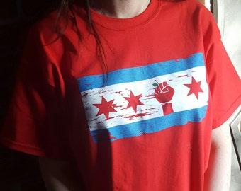 Chicago Teacher flag shirt