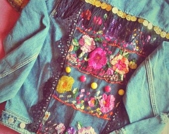 Gypsy Embellished Denim Jacket