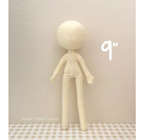 Crochet Pattern Human Doll : 9 Slender Doll Base Amigurumi Crochet Pattern for by Sylemn