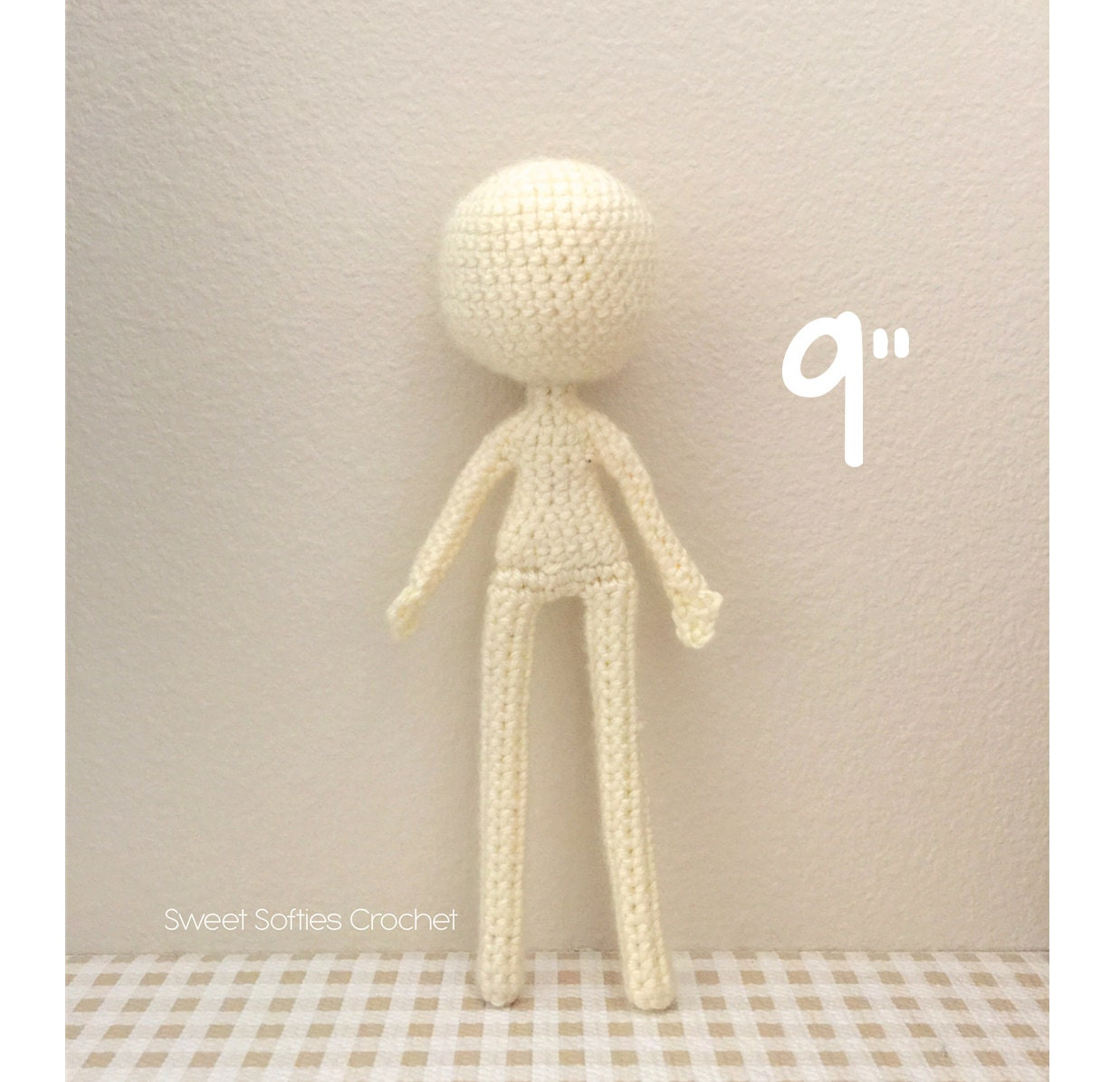 Crochet Amigurumi Doll Body : 9 Slender Doll Base Amigurumi Crochet Pattern for by Sylemn