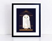 Harry Potter Hedwig, Magical Owl 8 x 10 inch Fine Art Print