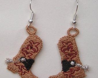 Cowboy Boot Earrings (1)