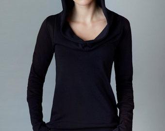 "hoodie sweater ""arnika"", black"