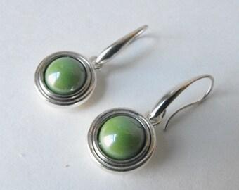 Small Drop Earrings  ~ Metal Earrings - Dangle earrings - Modern Earrings - Handmade Jewelry by ElleBelleArt