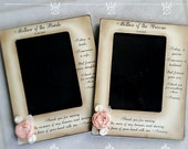 Set Mother of the Groom Bride Frame from bride and groom two messages picture frame rustic wedding mom sign flower personalized 4x6 5x7 8x10