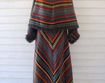 1960s poncho outfit by Susan Thomas - size medium