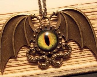 Bronze Dragon Eye Pendant