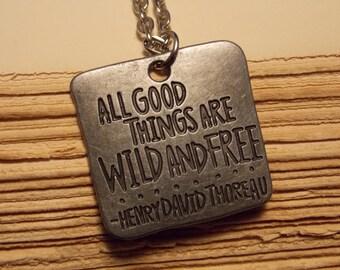 Thoreau Quote Necklace