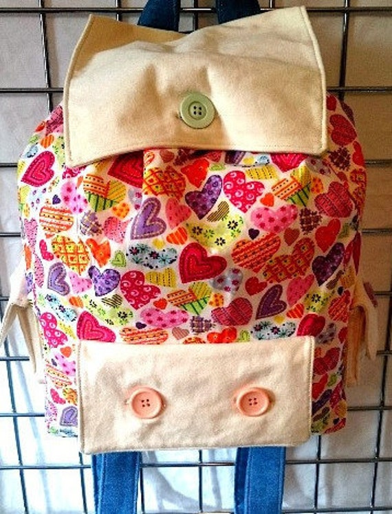 Cotton Heart Backpack from Color You Happy