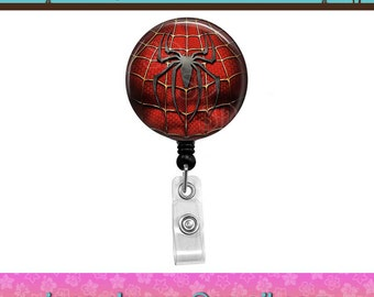 Spider Man Superhero Action Super Hero Button Retractable ID Badge Reel. Custom Requests Welcome. See Announcements for Discount Coupon.