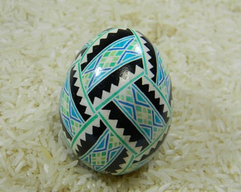 Criss-Cross Diamonds with WolvesTeeth Ukrainian Egg