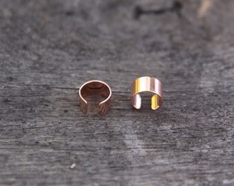 4 Rose Gold plated cuff Dreadlock Beads 8mm Hole (5/16 Inch)