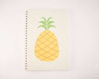 A5 50 pg Notebook - Recycled Paper. Pineapple