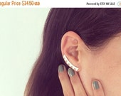 SALE Valentines day Sale, Ear climbers, pure silver plated, or gold plated, zigzagi pair of stud ear crawlers