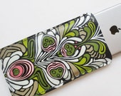 ART NOUVEAU FLORAL - Hand-Painted Leather iPhone 6 Case - Phone Sleeve