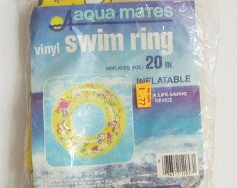 Vintage Children's Swim Ring - Vintage Children's Swim Tube - Vintage Innertube - Children's Swimming Tube - Vintage Pool Toys