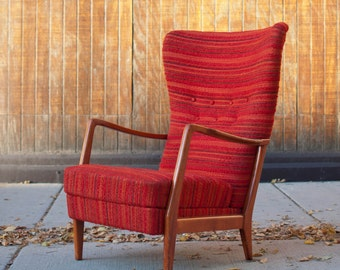 Vintage Modern Lounge Chair Attributed to Carl Malmsten for AB Record Bollnäs