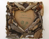 Square Heart Shaped Driftwood Frame, Rustic Home Decor, Shabby Chic gift idea (MADE TO ORDER)