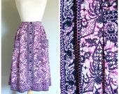 Vintage IKAT PRINT MIDI Skirt/size Small-Medium