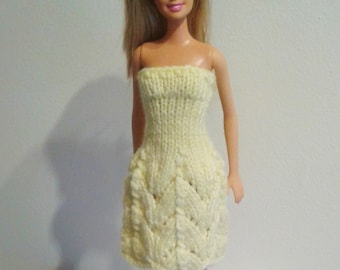 Yellow Lace Summer Dress for Barbie