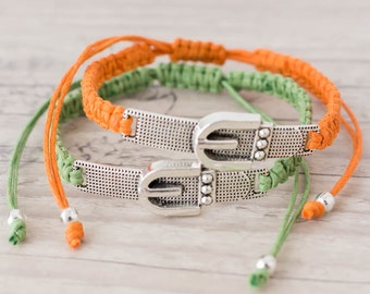 Friendship bracelets Best friend bracelet His and her bracelet Couples set Macrame jewelry Matching couple bracelets - set of 2