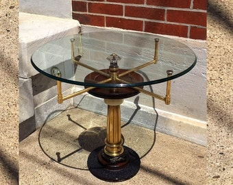 Steampunk Furniture, Man Cave Table, Steampunk Table, Industrial Table, Man Cave Stuff, Side Table, Handmade Coffee Table,Boyfriend Gift