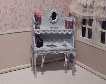 Dresser with bookshelf miniature dollhouse 1:12 scale