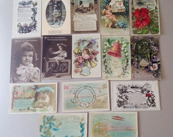 Antique Postcards, Birthday Postcards, Easter, Christmas, New Year, Greetings Postcards, RPPC, Victorian Edwardian Postcards
