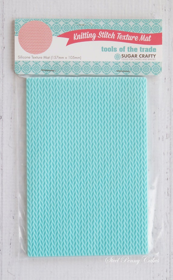 Knit Knitting Stitch Texture Silicone Mat Mold Embosser