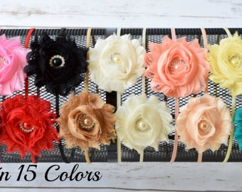 Girls Headbands, Womens Headband, Adult Headband, Flower Girl Hair Accessories, Baby Headband, Shabby Headband, Infant Headband, Headband