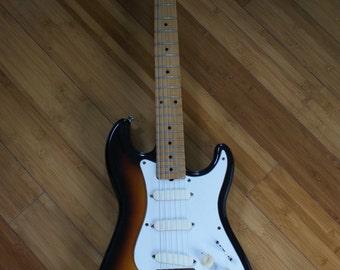 Vintage Fender Squire Bullet Guitar, 1980s Electric Guitar, Made in Japan, Fender Strat