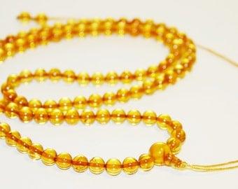Genuine Baltic Amber Mala Prayer 108 beads 7 mm. 21 gr. honey 佛教琥珀念珠