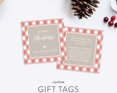Custom Gift Tags | Cookie Exchange | Baking Instructions |  Holiday Gift Inserts | Doublesided Family Tags | Free Shipping