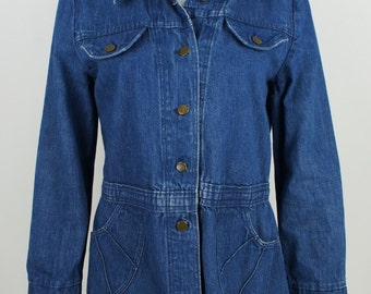 Vintage Ladies 1970's the Gap Indigo Denim Blazer size Large