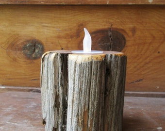 Wood Candle Holder - Tree Branch Candle Holder - Woodland Candle holder - Wedding Centerpiece - Wedding Gift - Rustic Home Decor