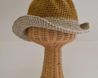 Hat with floppy brim   Sun Hat   Beach Hat   Boating Hat   Garden Hat   Summer Trends   Made in USA   Organic cotton   Hemp Hat   Short brim
