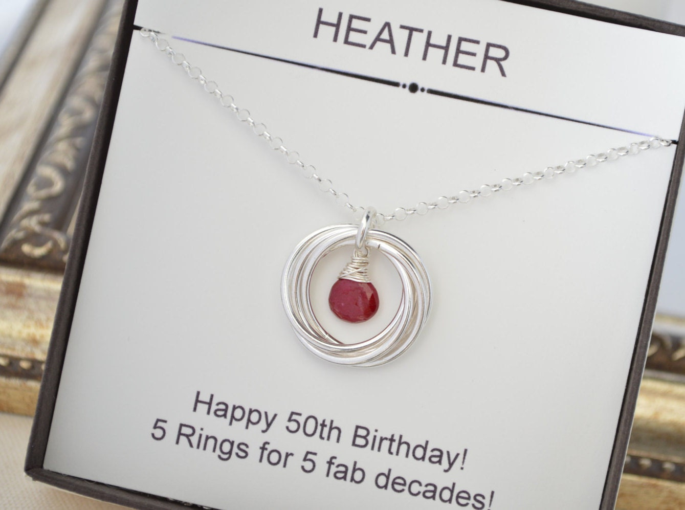 Gifts For 50th Wedding Anniversary For Friends: 50th Birthday Gift For Mom, 5th Anniversary Gift For Wife