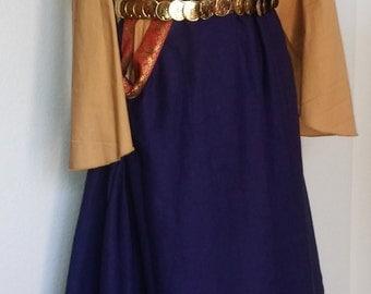 Custom Linen Sideless Surcoat, Dress